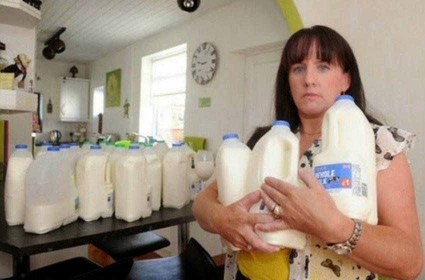 Mujer adicta a la leche toma 10 litros por día