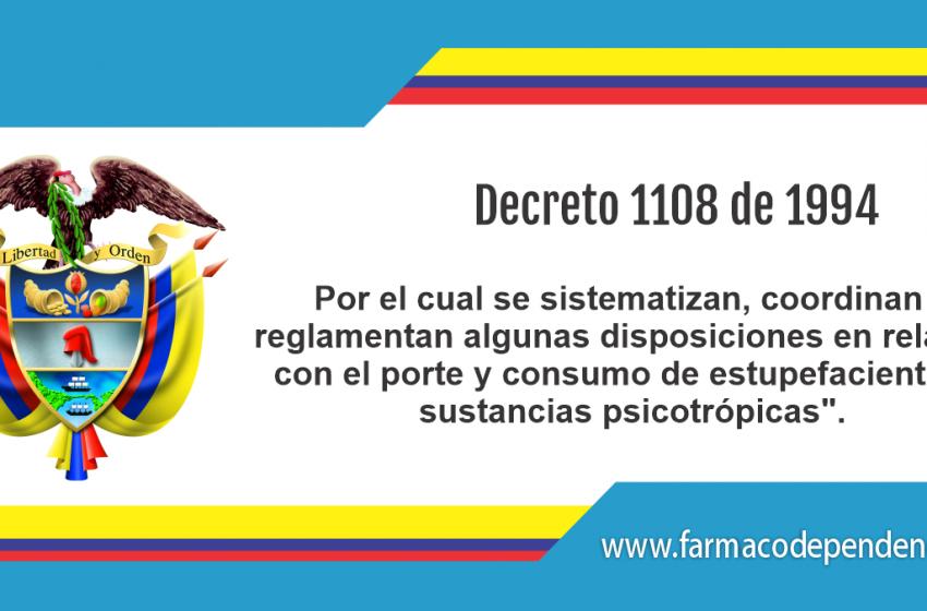 Decreto 1108 de 1994