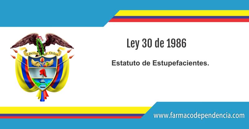 Ley 30 de 1986